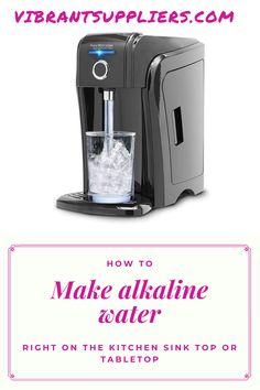 The new technology has made things easier. You can make your alkaline water right on the table top using countertop alkaline water filter. This come either in form of a dispenser or connect your device direct to standard kitchen faucet/tap Best Alkaline Water, Alkaline Water Filter, Healthy Water, Under Counter Water Filter, Countertop Water Filter, Best Water Filter, Water Filter Pitcher, Reverse Osmosis Water System, Sink Top