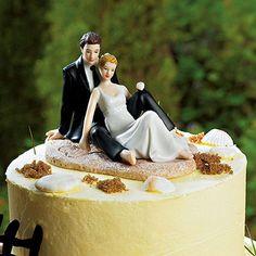 Beach Cake Topper, Beach Wedding Cake Toppers, Bride And Groom Cake Toppers, Wedding Cake Decorations, Wedding Cakes, Party Wedding, Wedding Store, Garden Wedding, Wedding Favors