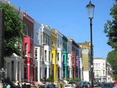 The colourful houses of Portobello Road, by Pikakoko on flickr   via The Londonist