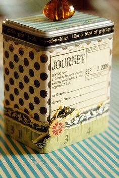 ATC Tin by Rachel Carlson - front view complete | Flickr - Photo Sharing!