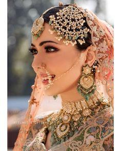 Indian Bridal Makeup, Indian Bridal Outfits, Indian Bridal Fashion, Indian Bridal Wear, Pakistani Bridal Jewelry, Bridal Beauty, Indian Dresses, Indian Wear, Bridal Dresses
