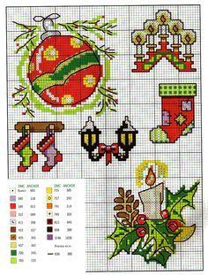 Point de croix Noël *♥* Cross stitch Christmas