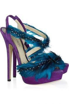 Zapatos de Fiesta 2012 con plumas de Jimmy Choo.