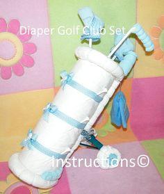 Instrucciones para hacer este adorable BABYS 1 GOLF SET pañal