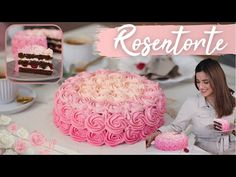 Rosentorte im Ombré Look - Valentinstags-Torte / Geburtstagstorte mit Buttercreme-Rosen / Ombre Cake - YouTube Ombre Cake, Cake Youtube, Birthday Cake, Baby Shower, Desserts, Food, Kitchen, Bakken, Buttercream Roses