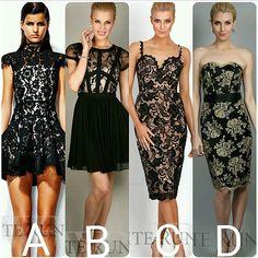 whiterunwayA B C or D? #blackdress #lbd #whiterunway #black #lace #dresses #fashion #jadore #alexperry #lovehonor