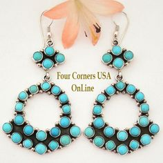 Four Corners USA Online - Large Turquoise Chandelier Earrings Native American Navajo Silver Jewelry Emma Lincoln NAER-1449, $345.00 (http://stores.fourcornersusaonline.com/large-turquoise-chandelier-earrings-native-american-navajo-silver-jewelry-emma-lincoln-naer-1449/)
