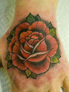 Silje Hagland aka Silje Vanilje red rose tattoo