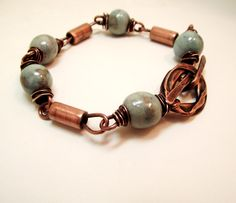 Friends...... handmade copper enameled and wood-fired bracelet. $52.00, via Etsy.
