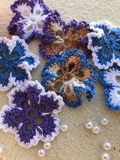 Six Petals Flower Crochet