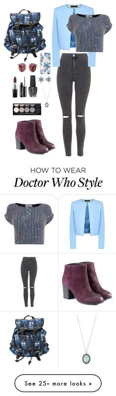 """Untitled #12"" by tota56 on Polyvore featuring Topshop, Jaeger, Coast, Sonix, Christian Dior, Pandora, Armenta, OPI, Witchery and MAC Cosmetics"