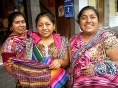 Enjoying as always making contact and conversation with ladies and other street vendors (here in Antigua, Guatemala)