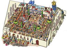Das 181. Oktoberfest beginnt am Samstag in München. Zum Start erklären wir das Hofbräu-Zelt mit vielen Zahlen in einem Wimmelbild.