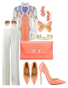 """""""Untitled #380"""" by scannedbyaaron ❤ liked on Polyvore featuring Etro, Michael Kors, Christian Louboutin, Kate Spade and Stella & Dot"""