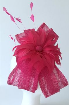 192e7798c7d TheHeadwearBoutique on Etsy ( 40 USD)- Felicity Bright Pink Oaks Fascinator