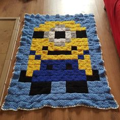 Minion granny square crochet blanket by kuhlayre