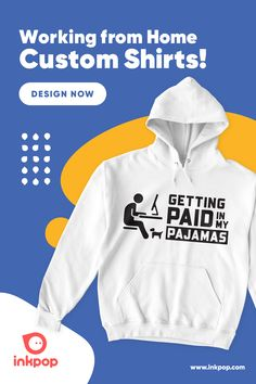 Working From Home? You must get dressed and everyone likes a comfy hoodie. Comfy Hoodies, Sweatshirts, Custom Printed Shirts, Get Dressed, T Shirt, Outfits, Design, Outfit, Tee