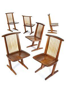 George Nakashima, Conoid chairs (12) : Lot 260