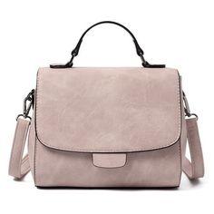 Cross Body Flap Handbag (125 BRL) ❤ liked on Polyvore featuring bags, handbags, shoulder bags, purses, rosegal, bolsas, brown shoulder bag, man bag, brown crossbody purse and flap shoulder bag