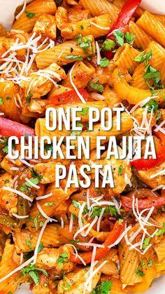 Chicken Fajita Recipe, Low Carb Chicken Recipes, Chicken Fajitas, Cooking Recipes, Healthy Recipes, Easy Casserole Recipes, Easy Pasta Recipes, One Pot Dishes, Pasta Dishes
