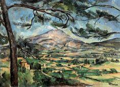 CÉZANNE, Paul. O monte Santa Vitória com pinheiro. c. 1882.