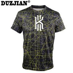 DUZJIAN men's Cavalierse Kyrie Irving Short-sleeved T-shirt custom bodybuilding jersey college jersey bodybuilding t shirt  #Affiliate