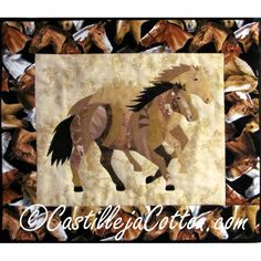 Wild & Free Horses ... by DianeMcGregor   Quilting Pattern - Looking for your next project? You're going to love Wild & Free Horses Quilt Patten 4346-11 by designer DianeMcGregor. - via @Craftsy