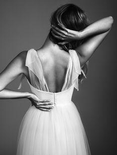 Vestido de novia tul y gasa