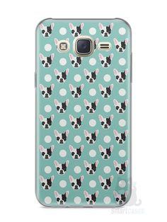 Capa Capinha Samsung J7 Cachorros Bulldog Francês - SmartCases - Acessórios para celulares e tablets :)