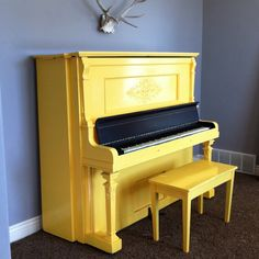 this is happening at my haus this weekend. yellow piano!