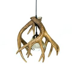 Add a warm Rustic touch to your home or cabin with this Whitetail Deer 3 Antler Pendant light. This item works great as an accent light in your kitchen or dining area while putting off the perfect amount of light. These pendants look great when used together in a room that features a larger Antler Chandelier or light fixture.