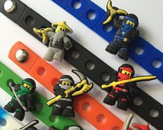 Ninja PARTY FAVORS Charm Bracelets Ninjago Party, Charm Bracelets, Party Favors, Etsy, Craft Gifts, Bracelets, Princess Party Favors, Wedding Keepsakes, Party Gifts