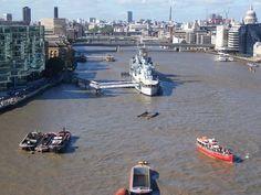 View from Tower Bridge, London, England, UK
