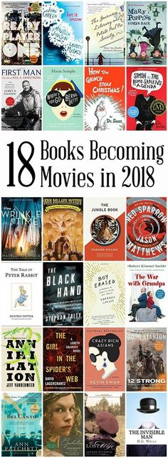 Check out this AWESOME list of 18 Books Becoming Movies in 2018. I am excited about Where'd You Go Bernadette, A Wrinkle in Time and several others! #Readingbookstochildren
