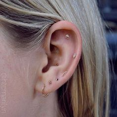 More rose gold cuteness on Jayde's left ear. I can't get enough of these captivating curated ears.