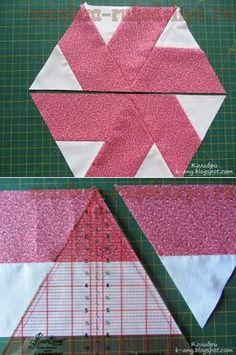Taller sobre mosaico: ángulo de 60 grados para patchwork