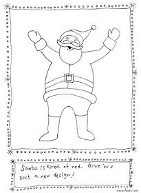bnute productions: More Christmas Printable Art Activities - Santa's Outfit Redesign and more...