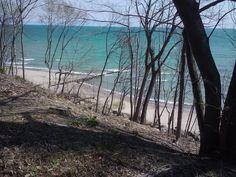 Fort Sheridan beach. Lake Michigan
