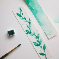 Image result for watercolor bookmark