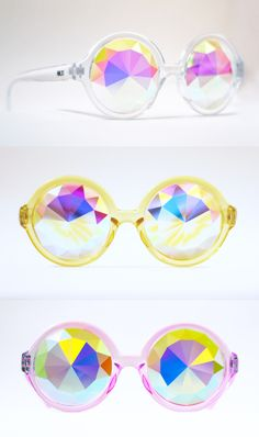 featuring raised starburst facetingmedium intensityeasy to wearcomes in clear, yellow or pink frames