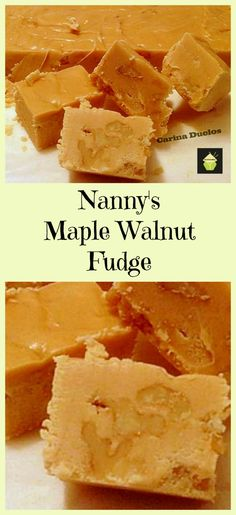 Nanny Pat's Popular Maple Walnut Fudge. Great for gifts or all for yourself!