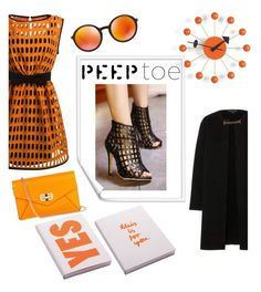 """""""peep toe"""" by janicevc on Polyvore featuring Burberry, Vitra, Moschino, Ray-Ban, Nuuna and Diane Von Furstenberg"""
