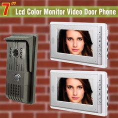 163.38$  Watch more here - http://aibwa.worlditems.win/all/product.php?id=32265593545 - 1 Camera 2 Monitor 7 inch video doorphone intercom Camera doorbell intercom color wired video doorphone intercom system