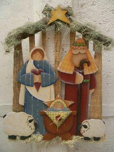 Christmas Yard Art, Christmas Nativity Scene, Christmas Past, Primitive Christmas, Rustic Christmas, Christmas Projects, Christmas Decorations, Christmas Ornaments, Nativity Creche