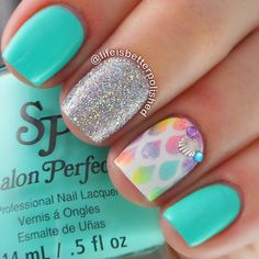 Mermaid Scale Nails by Life Is Better Polished