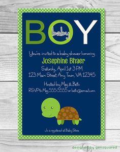 Sea turtle baby shower invitation sea turtle invitation turtle printable turtle themed boy baby shower invitation filmwisefo