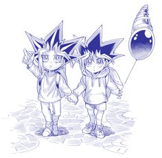 Why does Yugi look normal and Yami look weird (as a child)? Yugioh Fanfiction, Yu Gi Oh Zexal, Yugioh Yami, Anime Ships, Anime Love, Anime Characters, Anime Art, Geek Stuff, Animation
