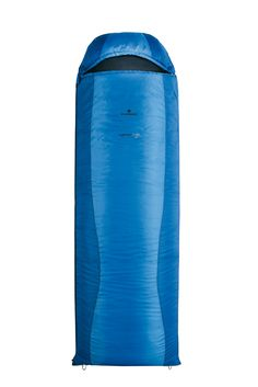 Ferrino Lightec 700SQ Sleeping Bag (Blue). Lightweight sleeping bag, with an excellent weight/size/cold protection ratio. Compresses into a very small volume when travelling size counts. Rectangular style bag with H.T.F.insulation. 2-way zippers and zippers that allow for 2 bags to be attached. Inner air dam prevents heat loss or cold air from getting in. One touch system to open or close the hood from inside, with just one hand.