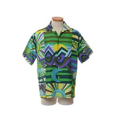 Vintage 50s 60s Mod Hawaiian Camp Shirt 1950s 1960s Hawaii