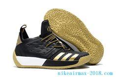 c57721ef1545 2018 Latest James Harden Mens Basketball Shoes Harden Vol.2 Black Golden  Basketball Sneakers